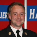 Bernd Czelustek, Kommandant der Mannschaft der Freiwilligen Feuerwehr Hausen