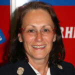 Dr. Gisela Hahn, Feuerwehrärztin der Mannschaft der Freiwilligen Feuerwehr Hausen